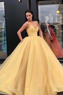 Vestido de fiesta elegante vestido de fiesta palabra de longitud sin tirantes de novia_1