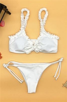 Sexy Ruffles Knot Two-piece Bikini Sets_12