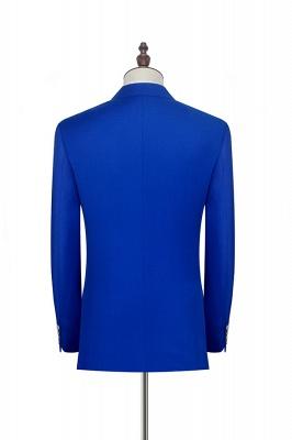 Royal Blue Zweireihiger Wollanzug | Mode-Spitze-Revers sechs Knopf-Bräutigam, der Smoking Wedding ist_4