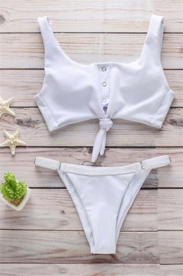 Sexy Women Solid Color Bikini Set_6