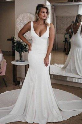 Schlichtes Brautkleid Meerjungfrau | Hochzeitskleider Günstig Online Kaufen_1