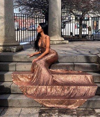 Gorgeous Spaghetti-Straps Sequins Mermaid Prom Dress_2