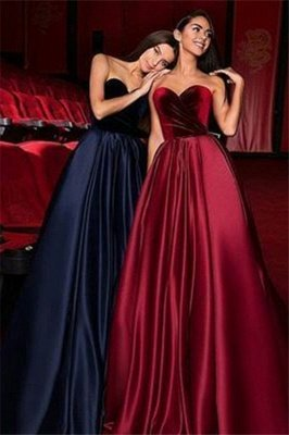 Gorgeous Sweetheart Ruffles Prom Dresses | Popular Sleeveless Cheap Evening Dresses