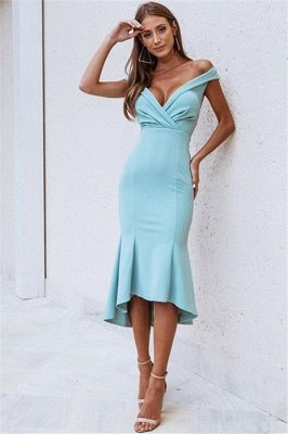 Gorgeous Off-The-Shoulder Sleeveless Mermaid Prom Dress