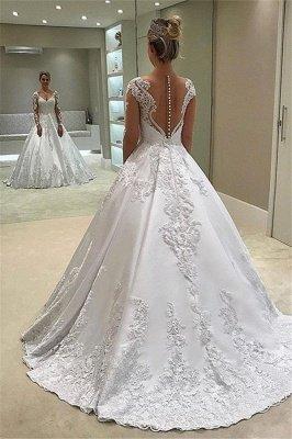 Robe de mariée élégante et élégante à manches longues_2