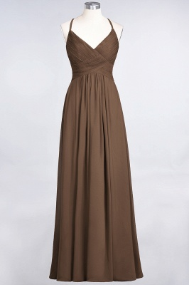 Chiffon A-Line Spaghetti-Straps V-Neck Sleeveless Long Bridesmaid Dress with Ruffles_12