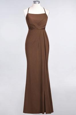 Spandex Lace Mermaid Spaghetti-Straps Sleeveless Long Bridesmaid Dress with Ruffle_11