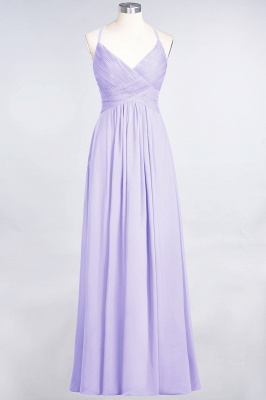 Chiffon A-Line Spaghetti-Straps V-Neck Sleeveless Long Bridesmaid Dress with Ruffles_20
