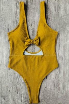 Schlichte einteilige Badebekleidung | Himmelblau Bikini Online_4