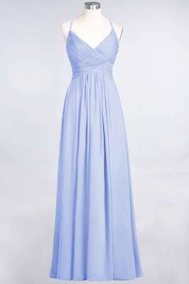 Chiffon A-Line Spaghetti-Straps V-Neck Sleeveless Long Bridesmaid Dress with Ruffles_21