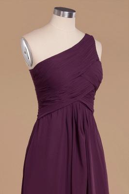 Элегантные платья для выпускного с оборками на одно плечо | A-Line Вечерние платья без рукавов_5