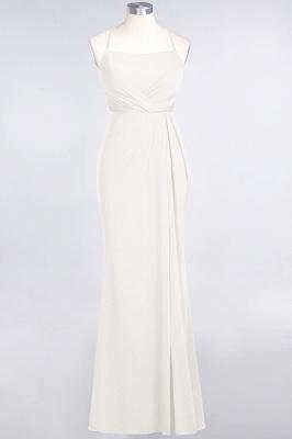 Spandex Lace Mermaid Spaghetti-Straps Sleeveless Long Bridesmaid Dress with Ruffle_2