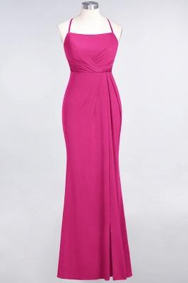 Spandex Lace Mermaid Spaghetti-Straps Sleeveless Long Bridesmaid Dress with Ruffle_8