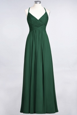 Chiffon A-Line Spaghetti-Straps V-Neck Sleeveless Long Bridesmaid Dress with Ruffles_30