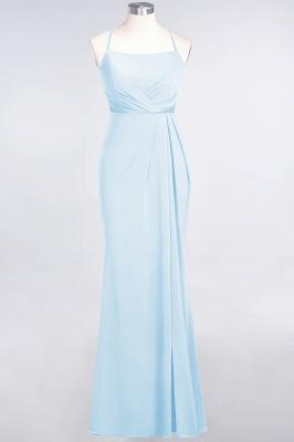 Spandex Lace Mermaid Spaghetti-Straps Sleeveless Long Bridesmaid Dress with Ruffle_20