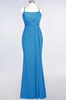 Spandex Lace Mermaid Spaghetti-Straps Sleeveless Long Bridesmaid Dress with Ruffle_22