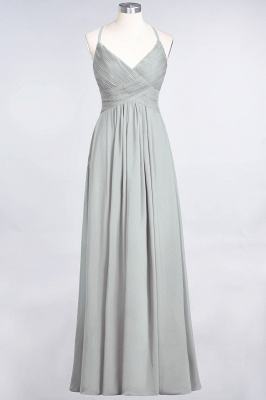 Chiffon A-Line Spaghetti-Straps V-Neck Sleeveless Long Bridesmaid Dress with Ruffles_29