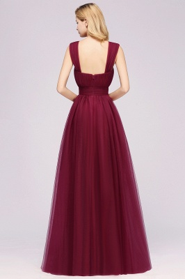 A-Line Popular Sweetheart Straps Sleeves Floor-Length Bridesmaid Dresses with Ruffles_2