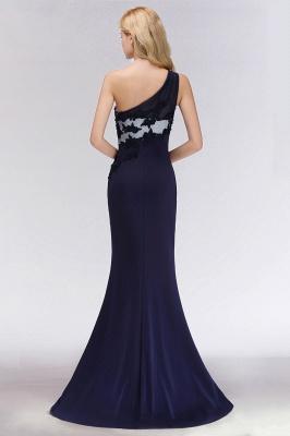 Schöne  Brautjungfernkleider Eine Schulter | Brautjungfer Kleid Weiß Und Schwarz Online Kaufen_2