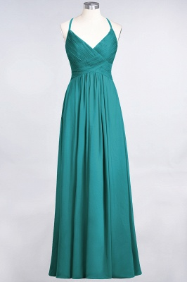 Chiffon A-Line Spaghetti-Straps V-Neck Sleeveless Long Bridesmaid Dress with Ruffles_31