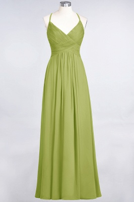 Chiffon A-Line Spaghetti-Straps V-Neck Sleeveless Long Bridesmaid Dress with Ruffles_32