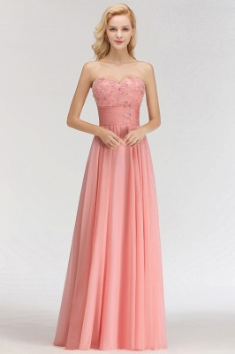 Sexy Sweetheart A-Line Appliques Long Bridesmaid Dresses Online_1