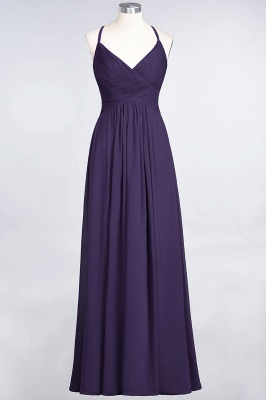Chiffon A-Line Spaghetti-Straps V-Neck Sleeveless Long Bridesmaid Dress with Ruffles_18