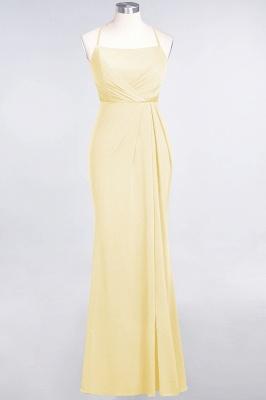 Spandex Lace Mermaid Spaghetti-Straps Sleeveless Long Bridesmaid Dress with Ruffle_16