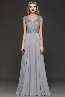 Elegante Brautjungfernkleider Lang Grau | Brautjungfer Kleid Mit Applikationnen Und Tüll_1