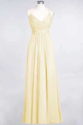 Chiffon A-Line Spaghetti-Straps V-Neck Sleeveless Long Bridesmaid Dress with Ruffles_17