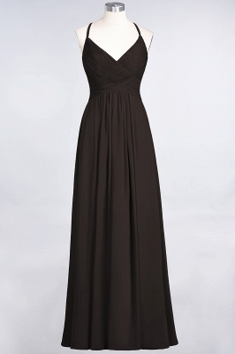 Chiffon A-Line Spaghetti-Straps V-Neck Sleeveless Long Bridesmaid Dress with Ruffles_11