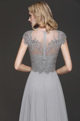Elegante Brautjungfernkleider Lang Grau | Brautjungfer Kleid Mit Applikationnen Und Tüll_4