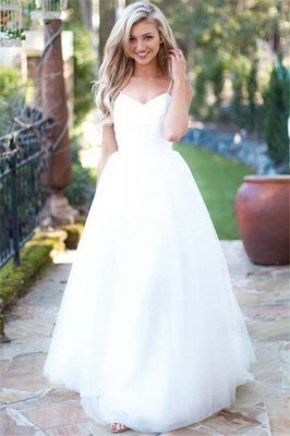 Gorgeous Spaghetti-Strpas Tulle Wedding Dresses