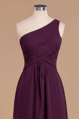 Элегантные платья для выпускного с оборками на одно плечо | A-Line Вечерние платья без рукавов_4