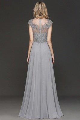 Elegante Brautjungfernkleider Lang Grau | Brautjungfer Kleid Mit Applikationnen Und Tüll_2