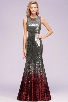 Sleeveless Sexy Mermaid Sequins Cheap Bridesmaid Dresses