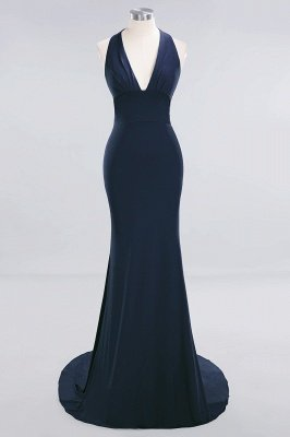 Elegant Mermaid Halter Pool Bridesmaid Dress Online_24