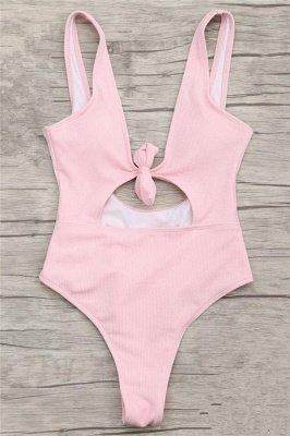 Schlichte einteilige Badebekleidung | Himmelblau Bikini Online_2