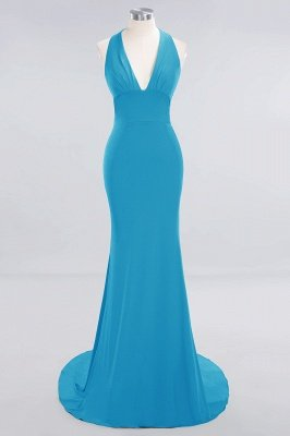 Elegant Mermaid Halter Pool Bridesmaid Dress Online_22
