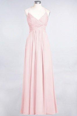 Chiffon A-Line Spaghetti-Straps V-Neck Sleeveless Long Bridesmaid Dress with Ruffles_3