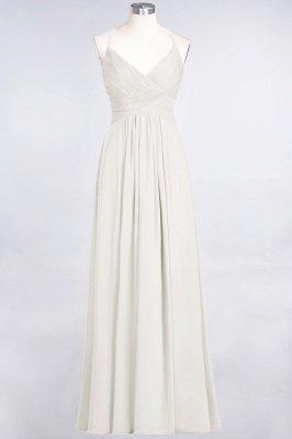 Chiffon A-Line Spaghetti-Straps V-Neck Sleeveless Long Bridesmaid Dress with Ruffles_2