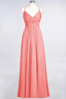 Chiffon A-Line Spaghetti-Straps V-Neck Sleeveless Long Bridesmaid Dress with Ruffles_7
