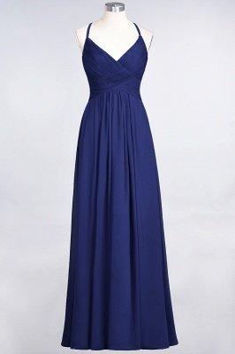 Chiffon A-Line Spaghetti-Straps V-Neck Sleeveless Long Bridesmaid Dress with Ruffles_25