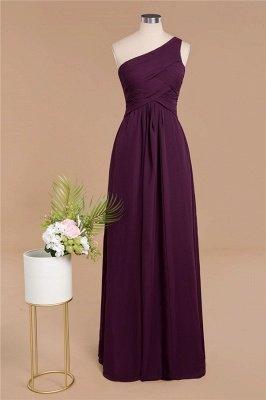 Элегантные платья для выпускного с оборками на одно плечо | A-Line Вечерние платья без рукавов_1