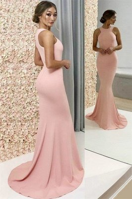 Mermaid A-Line 0Mermaid 9 New Arrival Pink Halter Sleeveless Prom Dresses