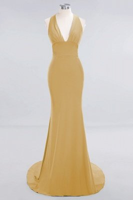 Elegant Mermaid Halter Pool Bridesmaid Dress Online_12