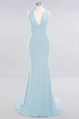 Elegant Mermaid Halter Pool Bridesmaid Dress Online_20
