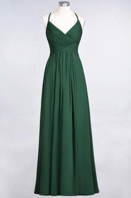 Chiffon A-Line Spaghetti-Straps V-Neck Sleeveless Long Bridesmaid Dress with Ruffles_30