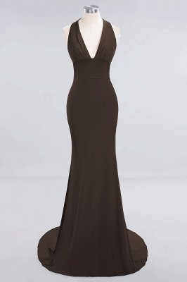 Elegant Mermaid Halter Pool Bridesmaid Dress Online_10