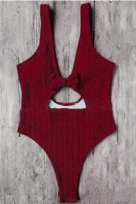 Schlichte einteilige Badebekleidung | Himmelblau Bikini Online_3